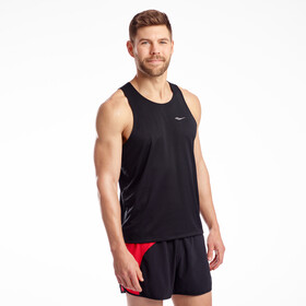 saucony Stopwatch Singlet Heren, black